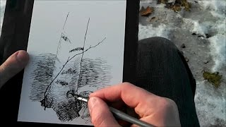 How to pen and ink drawing with cross hatching and other awesome stuff with a dip pen
