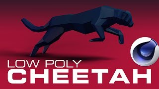 Low Poly Cheetah Speed Art - Cinema 4D, Photoshop CC