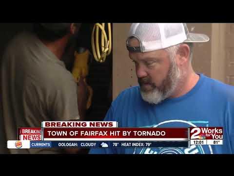 Tornado hits town of Fairfax