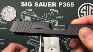 Sig Sauer P365 extractor removal and installation