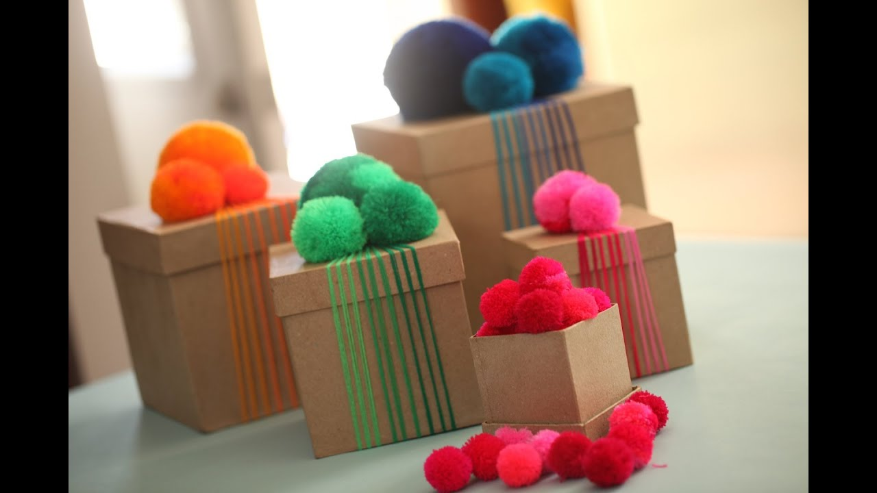 how to make yarn pom poms kin community youtube. Black Bedroom Furniture Sets. Home Design Ideas