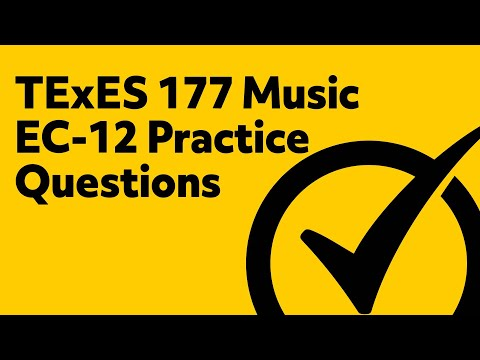 Free TExES (177) Music EC-12 Practice Questions