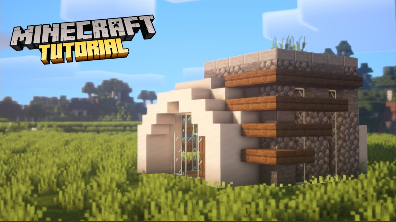 Minecraft How To Build A Modern Survival House Tutorial Youtube