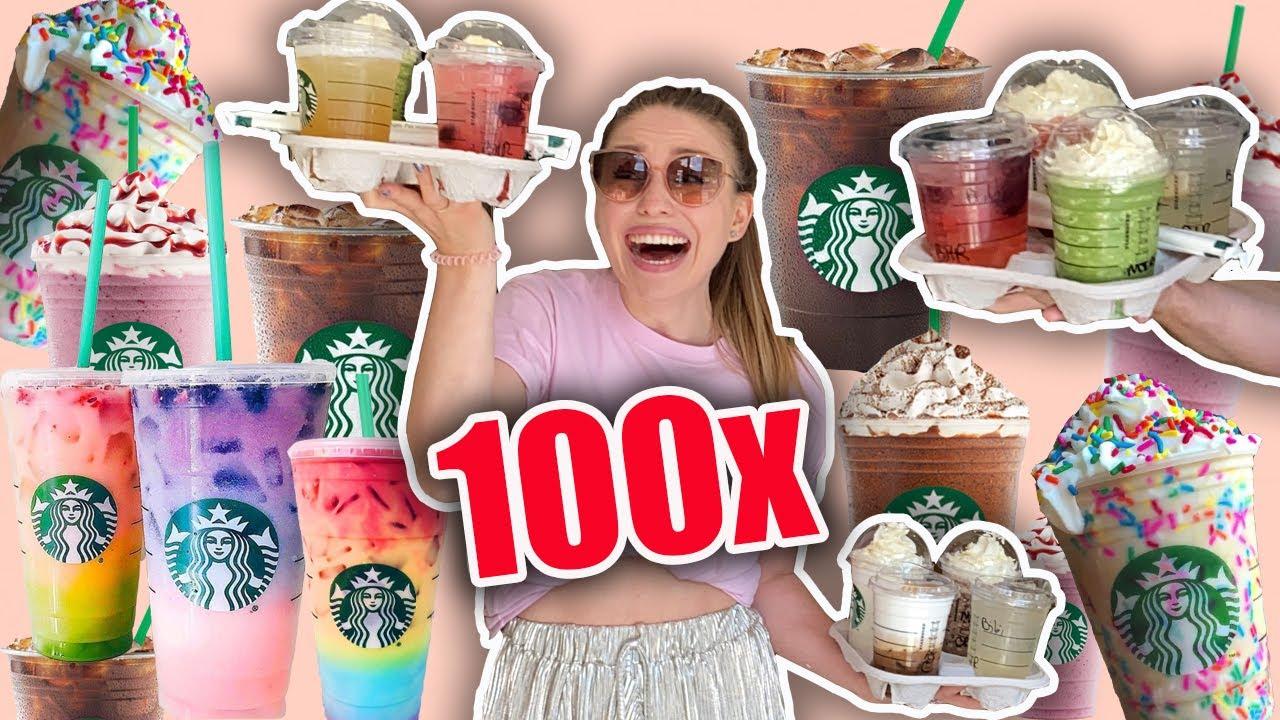 Ich lade 100 Menschen bei Starbucks ein 😳   Bibi