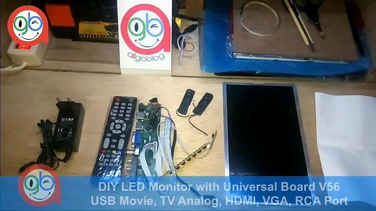 DIY Monitor with Universal LCD Board V56 for Orange Pi / Raspberry Pi