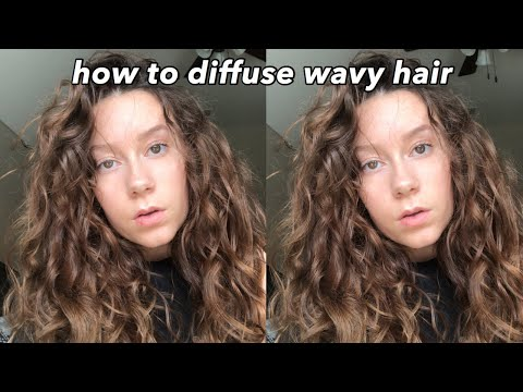 How to Diffuse Wavy/Curly Hair for Volume and Definition