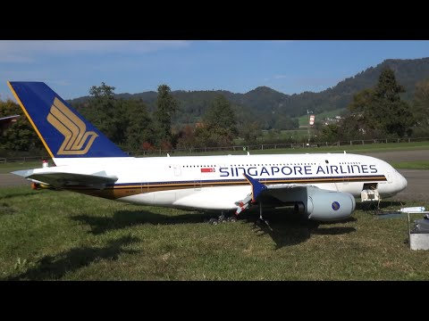 Guinness World Record R/C Model Airbus A-380 Singapore Airlines with 4x Jet Engine by Peter Michel