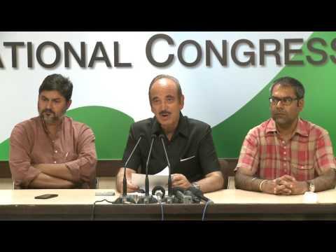 AICC Press Briefing By Ghulam Nabi Azad at Congress HQ, April 29, 2017