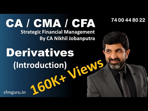Derivatives Introduction - CA Final SFM Video Lectures (New Syllabus)