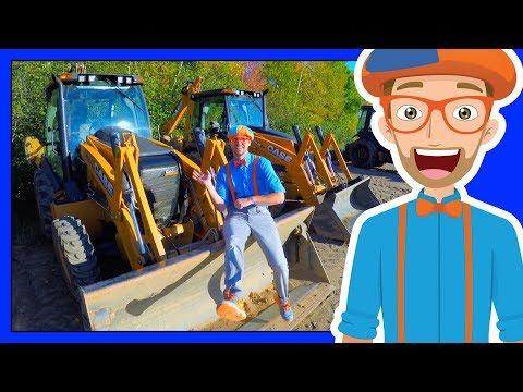 The Blippi Backhoe Video | Diggers for Children
