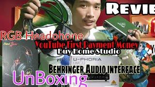 Behringer Uphoria UMC22 & REDGEAR 7.1 Headphones Unboxing Review |Gaming Headphones |Audio interface