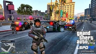 GTA 5 - LSPDFR Playing As A Cop Commentary - SWAT Patrol 8