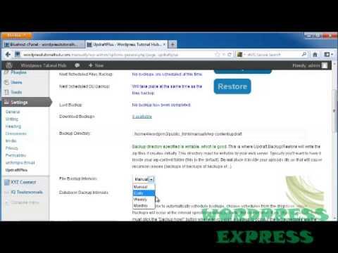 WP 3x Tutorial 32: How to Backup Wordpress Blog