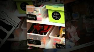 Organize Kid's Toy Bins Using Chalkboard Labels!