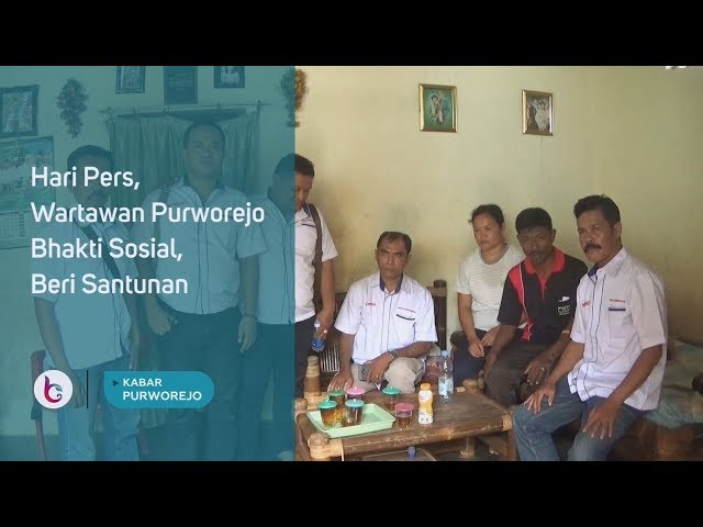 Hari Pers, Wartawan Purworejo Bhakti Sosial, Beri Santunan