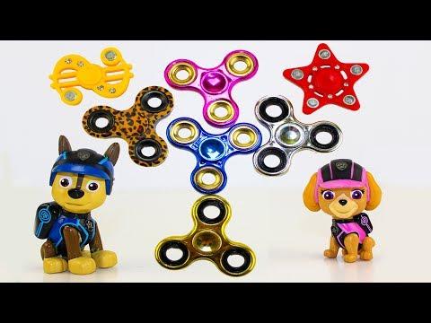 Щенячий патруль все серии Сборник про Спиннер Мультики для детей Fidget Spinner Видео для детей