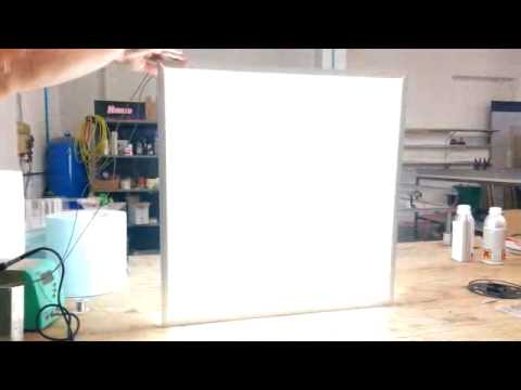 Plexiglas Endlight - pannello LED luminoso - YouTube