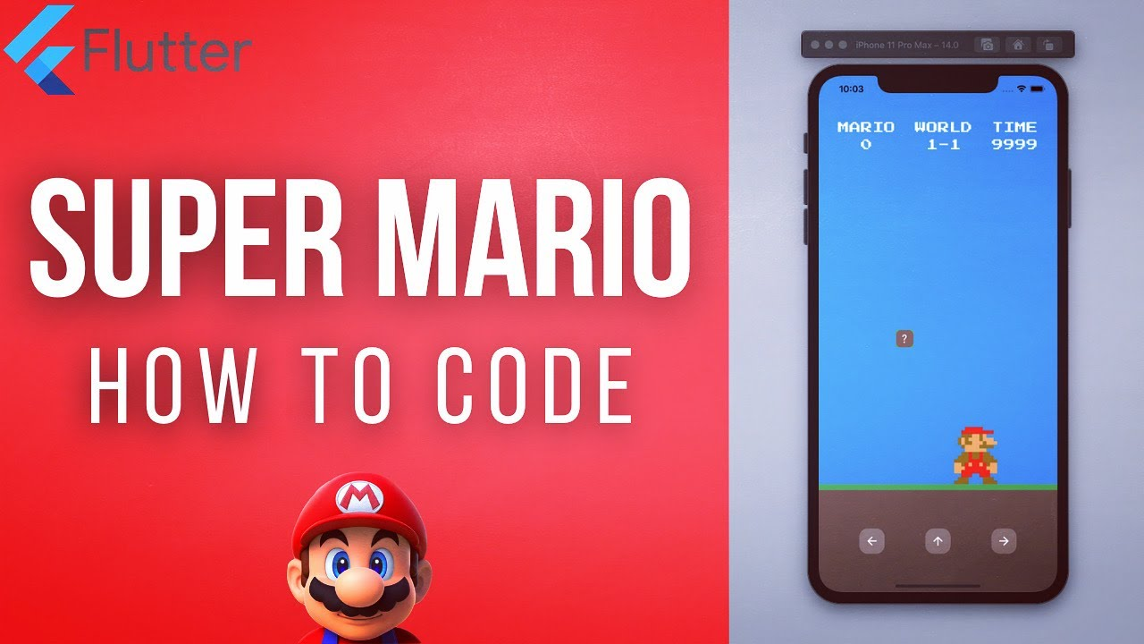 How to Create SUPER MARIO game using Flutter from Scratch - SUPER MARIO - FLUTTER FROM SCRATCH