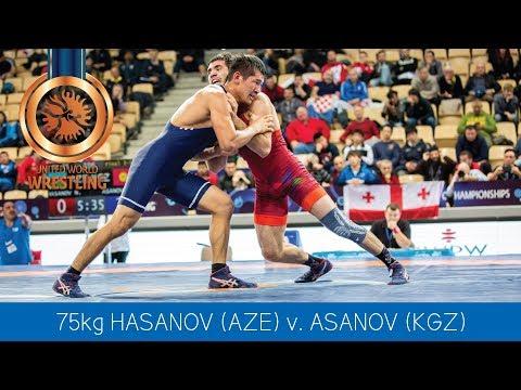 BRONZE GR - 75 kg: E. ASANOV (KGZ) df. N. HASANOV (AZE) by VPO, 1-0