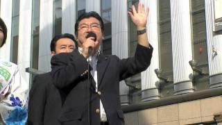 参院選2010!7月8日、東京・銀座でおこなわれた岡崎友紀候補の街頭演説...