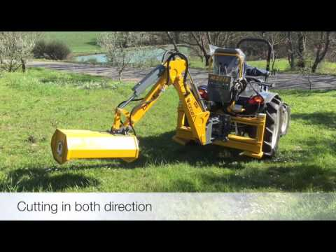 FEMAC - RETROESCAVATORE CON TRINCIATRICE, BACKHOE WITH MULCHER