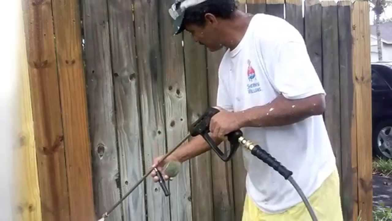 How to pressure wash old wood fence youtube how to pressure wash old wood fence baanklon Images