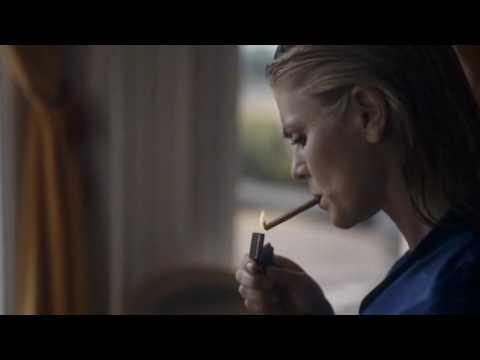 Emilia Fox Smoking in Tunnel