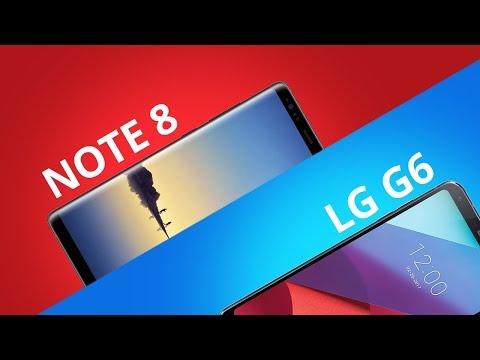 Galaxy Note 8 vs LG G6 [Comparativo]