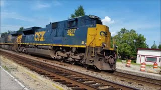 [CSX] 4837 SD70ACe Leads Q743-14 W/A VERY LOUD & Fouled K5LLA W/ Horn Salute in Fayetteville NC
