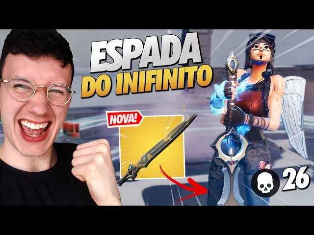 INSANO! 26 KILLS SOLO *NOVA* ESPADA - FORTNITE