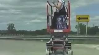 Drunk Worker on Scissor Lift