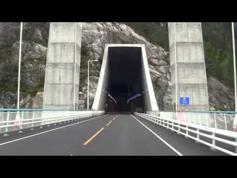 A trip across the new Hardanger Bridge in western Norway.