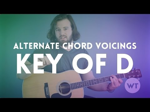 Alternate Chord Voicings - Key of D (guitar lesson)