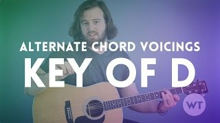 Download Alternate Chord Voicings - Key of D (guitar lesson) MP3 song and Music Video