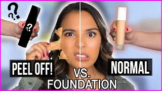 Beauty Busters: Poop or Woop? DIY PEEL OFF vs. NORMAL FOUNDATION Natalies Outlet