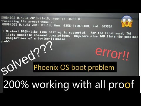 Phoenix OS (boot problem) finally solved| with all PROOF 200%| working in Hindi
