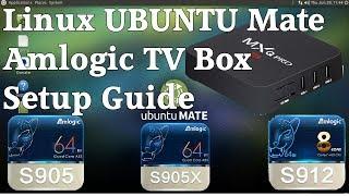 Amlogic S905 S912 Armbian Ubuntu Mate, Debian Linux Desktop Dual Boot Install Guide