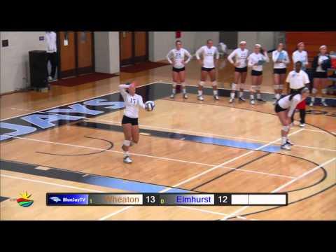 2014-10-08 Elmhurst College Volleyball vs Wheaton College
