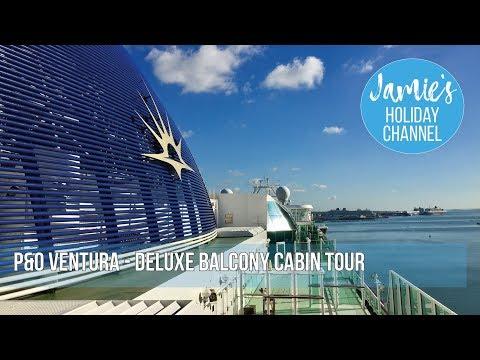 P&O Ventura Cruise Ship   Superior Deluxe Cabin Tour (D323)