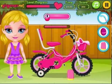 Барби на Велосипеде (Baby Barbie Bicycle Ride)