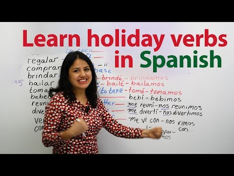 Learn Spanish verbs used for the holidays