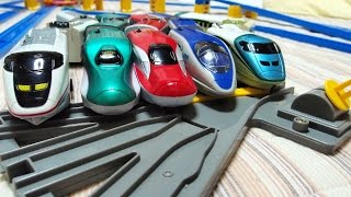 【プラレールdeあそぼ】てんてつきを使っていっぱいの車両をコントロールして遊んじゃお! thumbnail