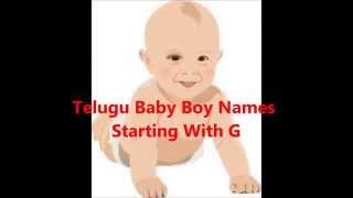 Telugu baby boy names with G