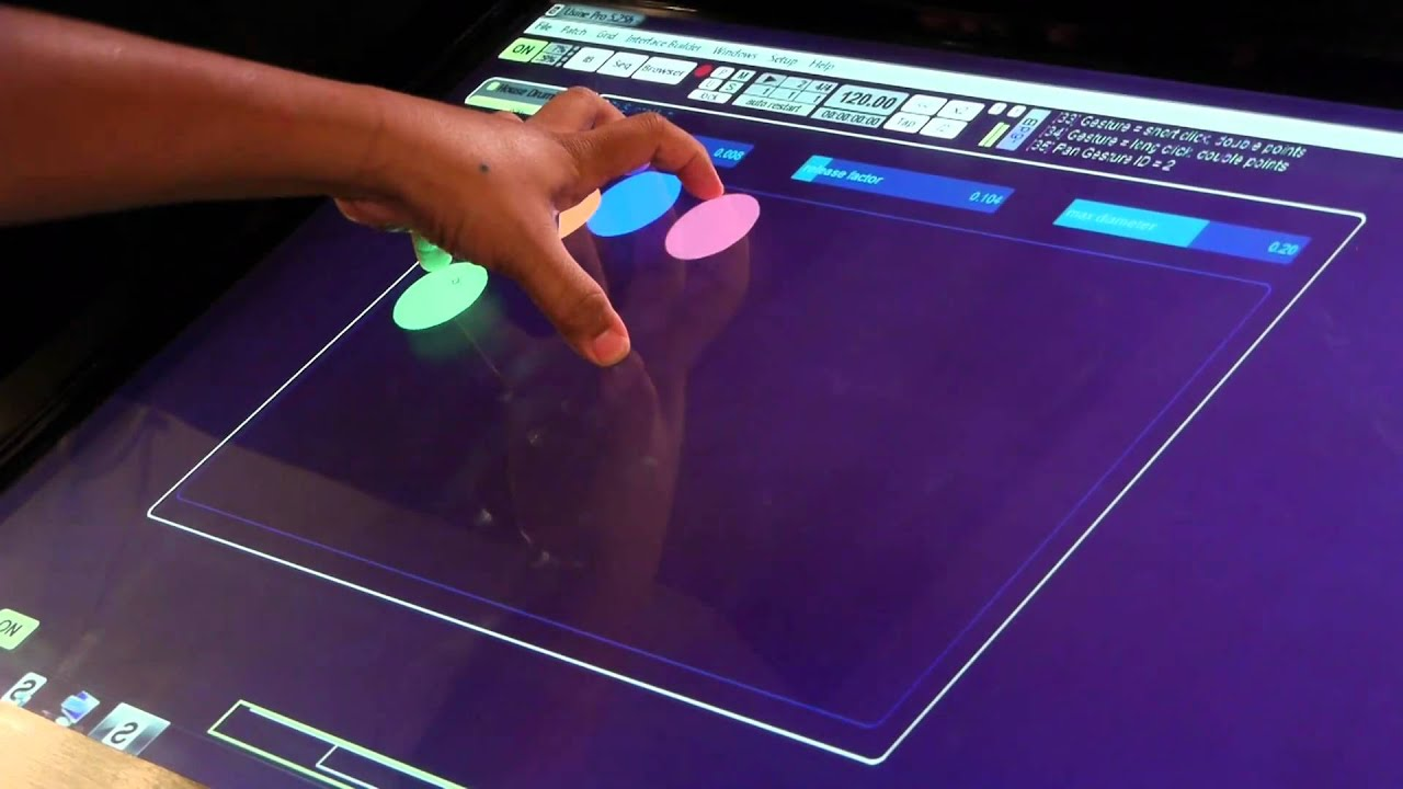 "MotionCOMMAND 42"" Multi-Touch touchscreen - YouTube"