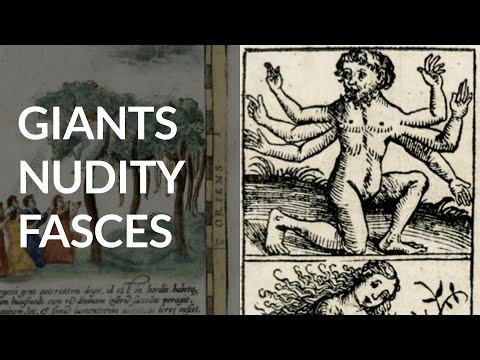 Giants, Nudity, Unicorns, Centaurs, Fasces & Map of the Moon on Old Maps