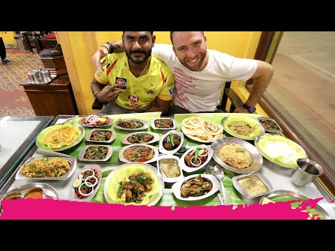 SUPER SPICY Indian MUTTON Feast at Thambi Vilas + Mud Koffee | Chennai, India
