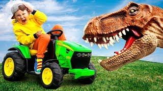 يذكر ديناصور كسر جرار. لم تر هذا من قبل.