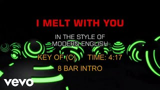 Modern English - I Melt With You (Karaoke)