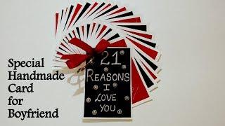 Special Handmade card for Boyfriend | DIY Handmade card for Boyfriend