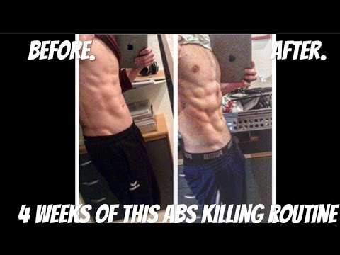 FULL HOME ABS ROUTINE [5min]4 WEEK TRANSFORMATION(BURN FAT GROW MUSCLES)